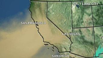 Water Vapor Imagery Shows California Dry Conditions