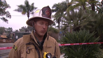 SDFD Battalion Chief Discusses Gas Supply Line Leak