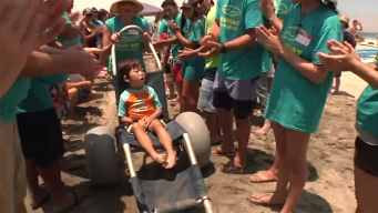 Kids With Special Needs Beat the Heat at the Beach