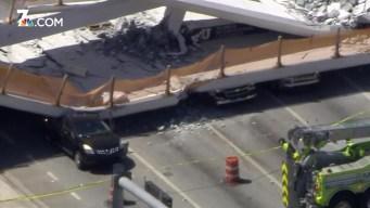 Miami Pedestrian Bridge Crushes Cars