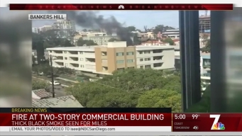 Commercial Building Fire in Bankers Hill Extinguished