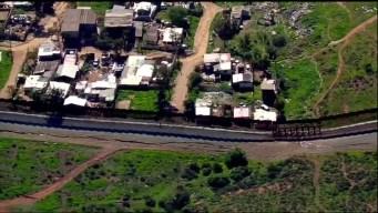 Raw: SkyRanger 7 Flies Along Existing Border Fence South of San Diego