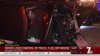 Driver Survives Crash Off Pacific Highway Overpass