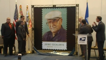 Stamp Dedicated to Jaime Escalante
