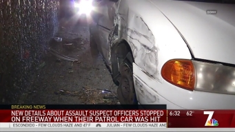 SDPD Patrol Vehicle Struck by Driver on I-8