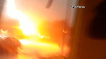 Video Shows Lightning Strike a San Antonio Home
