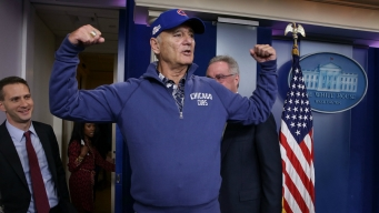 Cubs Fan Bill Murray Crashes White House Press Briefing
