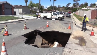 Work Continues on Otay Mesa Sinkhole