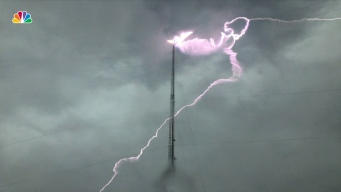Lightning Strikes TV Station in Georgia