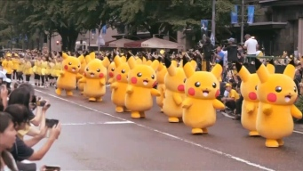 Hundreds of Pikachus Parade Through Yokohama, Japan