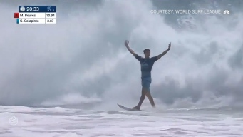 Rookie Surfer Nails Rare Triple Barrel