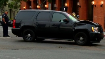 SDPD Police SUV Involved in Collision