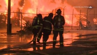 Massive Fire Sparks Near Tour of California Start Line