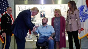 Trump Awards Purple Heart at Walter Reed