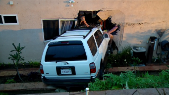 Pursuit Suspect Crashes Into Poway Home, Flees on Foot