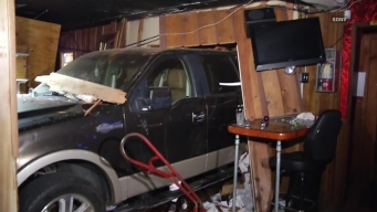 Truck Slams into Spring Valley Bar