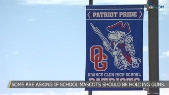 Should School Mascots Be Holding Guns?