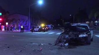 3 SDPD Patrol Cars Crash During OB Pursuit