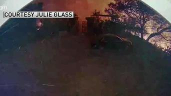 Family Watches Doorbell Cam as Woolsey Fire Threatens Home