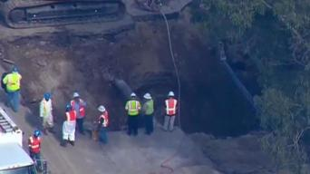 Sinkhole Repairs Continue in Pacific Beach