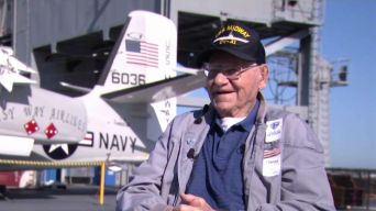 Navy Vet Returns to USS Midway 75 Years After Sailing Maiden Voyage