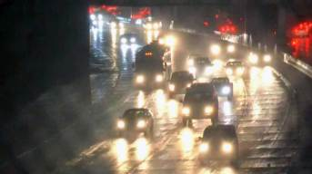 Heavy Rain Pelts Roads, Causing Hundreds of Crashes