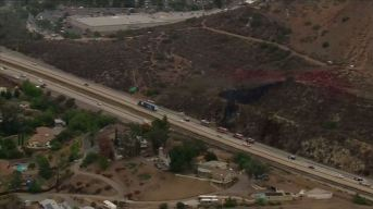 Sig Alert Issued in Lakeside as Brush Fire Burns Off I-8