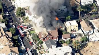 Intense Fire Burns Homes in Pico-Union District