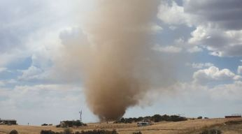 Watch: Dust Devil Column Stretches to Clouds