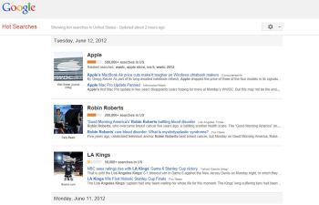 "Google Updates 'Hot Search,"" But More Lukewarm"