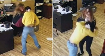 Caught on Video: Woman Turns the Tables on Attacker Armed With Knife