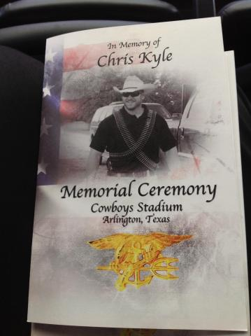 Images From Chris Kyle Memorial