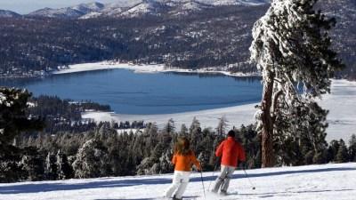 Skiing at Big Bear Opens