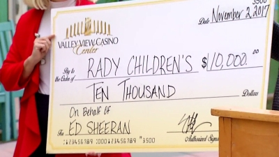 $10K Donation Made to Rady Children's in Ed Sheeran's Name
