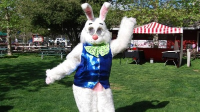 The Easter Bunny Is a Hare Early at Irvine Park Railroad