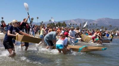 Santa Barbara Whimsy: Kardboard Kayak Race