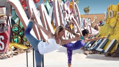 Yoga in the Neon Boneyard
