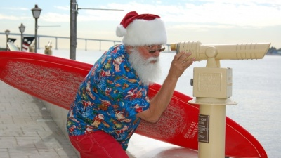Seaport Village: Santa's Boat Arrival Ahead