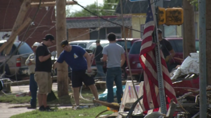 Residents Rally to Clean Up after Tornado
