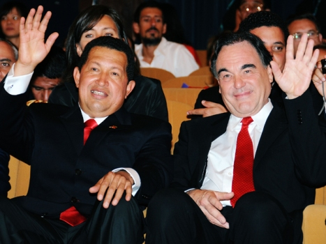 """South of the Border"" Trailer Finds Oliver Stone Blowing Kisses to Hugo Chavez"
