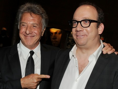 "Giamatti Bonds With ""Barney's Version"" Co-Star Dustin Hoffman"