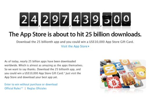 Apple Offers $10k to 25 Billionth App Downloader