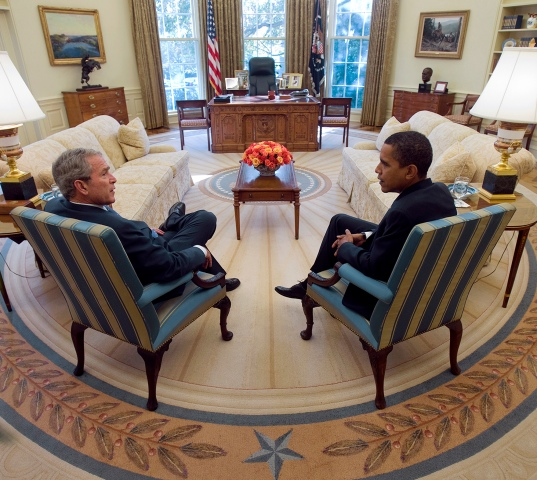 Obama, Bush Meet at the White House