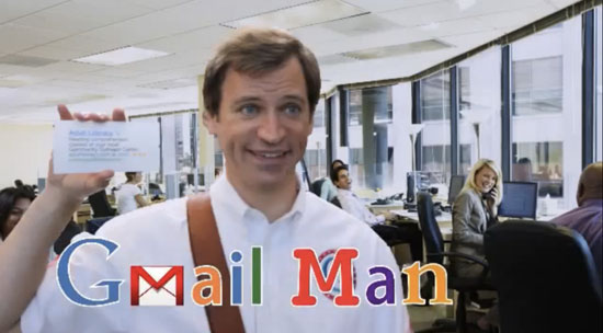 Microsoft Mocks Google With 'Gmail Man' Spoof