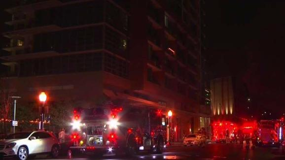 Fire sparks on balcony of east village apartment complex - Apartment complexes san diego ...