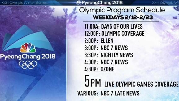 NBC 7 Program Schedule for Olympics