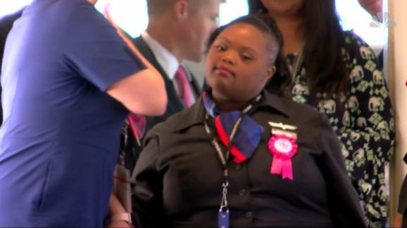 American Airlines Inducts First Flight Attendant With Special Needs