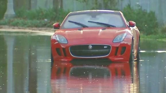 Luxury Car Damaged In Storm