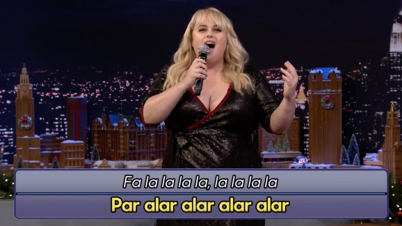 tonight google translate holiday songs with rebel wilson nbc 7