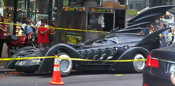 "It Would Appear Russell Brand Hops Aboard Batmobile for ""Arthur"" Remake"